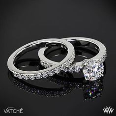 "Vatche ""5th Ave Pave"" Diamond Engagement Ring and Wedding Ring"