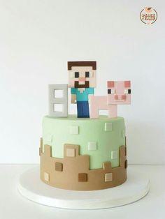 Cake Minecraft Torte, Minecraft Birthday Cake, 10 Birthday Cake, Minecraft Cookies, Mine Craft Party, Pastel Minecraft, Artist Cake, Cupcake Flavors, Novelty Cakes