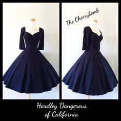 Achieve pin up perfection with The Cherrybomb 3/4 sleeves dress! This lovely Fit n Flare swing dress is sewn from designer weight cotton lycra