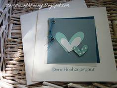 stampin up kleiner wortschatz karte hochzeit wedding card herzen hearts kesiart petrol