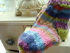 Wool Hand Knitted Toddler Socks