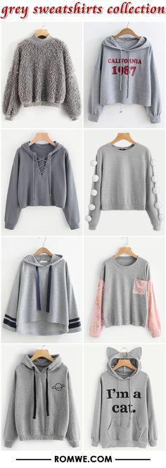 grey sweatshirts - romwe.com