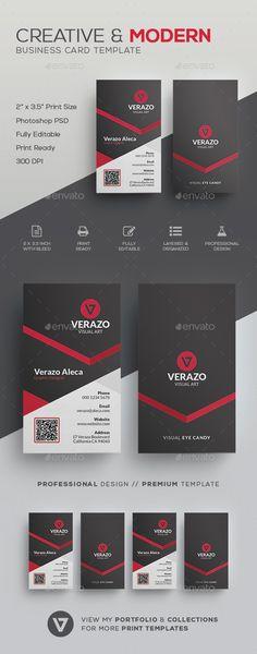 Creative & Modern Business Card Template PSD