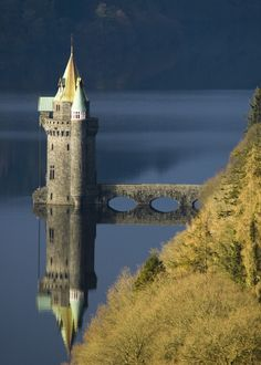 small castle ruin ~ Lake Efrnwy, Wales.