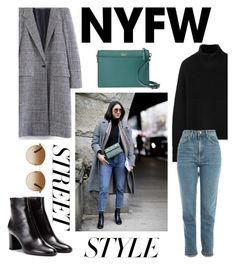 """NYFW: Street Style"" by kmeowj ❤ liked on Polyvore featuring WithChic, Burberry, Yves Saint Laurent, Kate Spade, Gucci, Topshop, contestentry and nyfwstreetstyle"