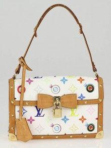 2772984f21df Louis Vuitton White Monogram Multicolore Eye Miss You Bag Authentic Louis  Vuitton