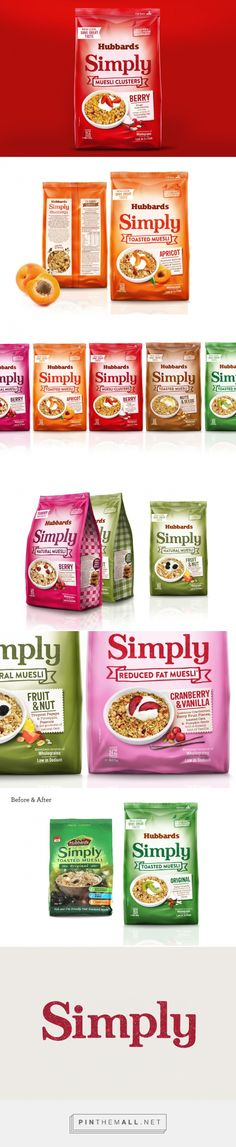 Hubbards Simply Muesli packaging redesigned by Coats Design - http://www.packagingoftheworld.com/2016/01/hubbards-simply-muesli.html