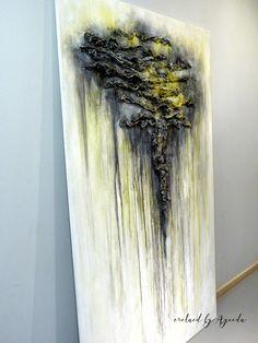 Mixed media abstract canvas by Ayeeda. 195x114cm, acrylics. #canvas #abstractart #acrylics #mixedmedia #texture