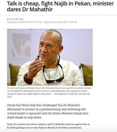Nazri Aziz, menteri yang umum mengetahui jarang bercakap hal-hal yang cerdik telah mencabar Tun Dr. Mahathir untuk berlawan dengan Najib Razak di Pekan atau Nazri sendiri di Padang Rengas. Adakah i...