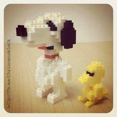 nanoblock Snoopy and Woodstock ... http://fb.inanoblock.com for more