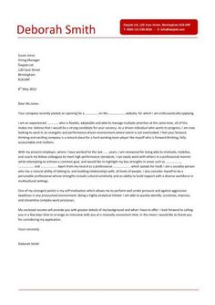 Simple cover letter design that is clear, concise and straight to the point.