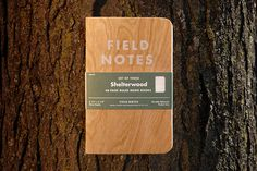 The notebook with the wooden cover by Field Notes Brand