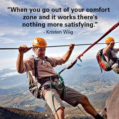 "Monday Motivational: ""When you go out of your comfort zone and it works there's nothing more satisfying.."" – Kristen Wiig"