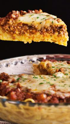 Transform your leftover pasta dinner into a delicious savory pie.