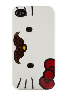 Hello Kitty With a Mustache iphone Case!!!
