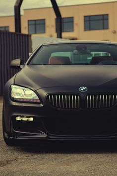 Matte Black BMW 650i Sports Car