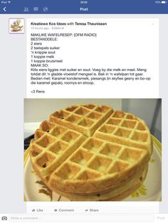 Waffle Recipes, My Recipes, Sweet Recipes, Baking Recipes, Cookie Recipes, Favorite Recipes, Kos, Ma Baker, African Dessert