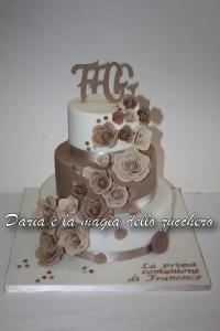 Torta decorata inviata da Daria e la magia dello zucchero