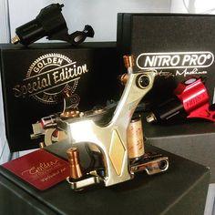 @goldentattoomachine and all it's beauty.. a Portuguese brand and manufacturing tattoo machine that wins on price and quality! #tattoomachines #tattooportugal #tattooeurope #tattoospain #tattoosuppliers #tattoos #tattooedgirls #inkwork #inklovers #tattooed