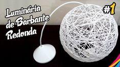 Luminaria de Barbante Redonda / Twine Lampshade Round / Lampara Hecha de... No vídeo mostramos como fazer uma luminária de barbante redonda, muito linda e fácil de fazer. (Legendado/Subtitled)