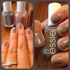 I must try this!! I have that gray polish!