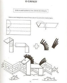 Farm Crafts, Horse Crafts, Camping Crafts, Animal Crafts, Origami Folding, Diy Origami, Paper Folding, Easy Crafts For Kids, Toddler Crafts