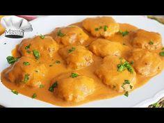 Filetes rusos en salsa española, realmente BRUTALES y muy fáciles, querrás mojar pan ¡seguro! - YouTube Dessert Recipes, Desserts, Tapas, Curry, Potatoes, Gluten Free, Keto, Chicken, Vegetables