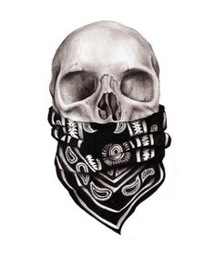 3D Gangster Skull Tattoo Design                                                                                                                                                                                 More