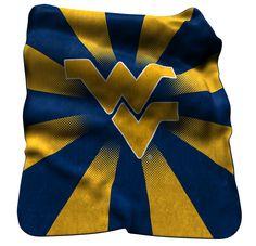 NCAA West Virginia Raschel Throw