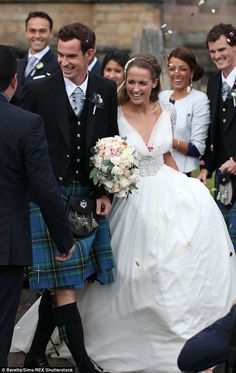 Kim Sears married long-term boyfriend Andy Murray at Dunblane Cathedral last Saturday in a bracelet-sleeved Jenny Packham gown. But while some Sears fans applauded the artist's choice of dress, many were less than convinced, with some critics claiming the chiffon gown swamped the 27-year-old's petite figure and was too mature a style for such a young woman.