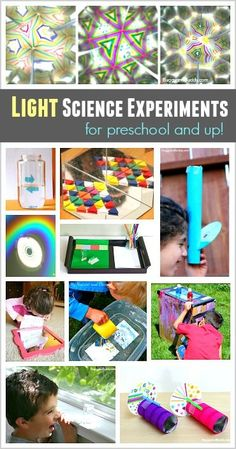 Light Science for Kids: Ways to Explore Refraction and Reflection Light Science for Kids: Science activities and experiments about light refraction and light reflection! Make rainbows, play with mirrors, and more! Science Experiments For Preschoolers, Kindergarten Science, Elementary Science, Science Lessons, Science For Kids, Science Projects, Preschool Activities, Preschool Age, Science Fair