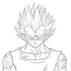 Imagenes De Dragon Ball Z Para Dibujar Faciles Vegeto Pinterest