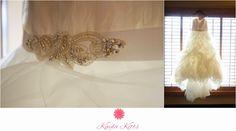 love this detailed sash, wedding dress, blue, denver, albuquerque wedding // Kayla Kitts Photography Blog