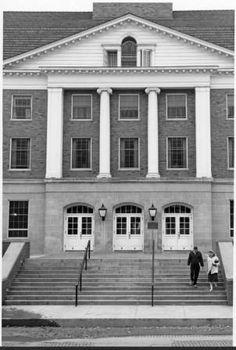 Jefferson Hall north entrance, 1950s. :: Ohio University Archives