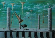 paweł widera /biustonosz/ lub /nieudany debiut strusia w orkiestrze wirtuoza w pierwszym dniu turnieju golfowego/ original paintings art acrylic