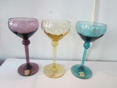 Vackra likörglas på fot från Åfors på Tradera. Övrigt | Bruksglas | Glas