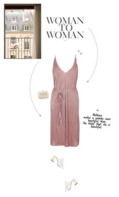 """""""Nude Pleated Wrap Midi Dress."""" by xabbielou ❤ liked on Polyvore featuring Topshop and Serpui"""