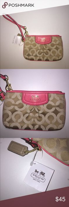 NWOT COACH WRISTLET/WALLET Never used!!! Firm price no offers please! Coach Bags Clutches & Wristlets