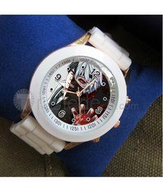 ^__^ Tokyo Ghoul Ken Kaneki Cosplay White Wristwatch