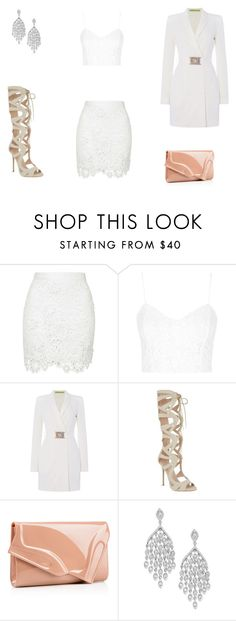 """""""White"""" by beckyannin on Polyvore featuring Topshop, Versace, Carvela, Christian Louboutin, women's clothing, women's fashion, women, female, woman and misses"""