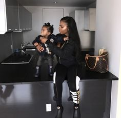 babies, daughter, and fashion image Mommy And Son, Baby Momma, Mom And Baby, Cute Family, Baby Family, Family Goals, Couple Goals, Future Daughter, Future Baby