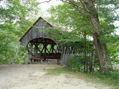 Covered Bridge, Near Sunday River in Bethel, Maine.  Definitely here with family