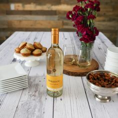 A simple brunch with wine includes a spread of shareable bites and Mirassou Pinot Grigio.