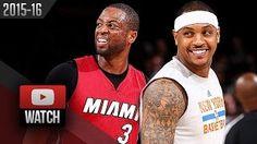 Dwyane Wade - Miami Heat - Carmelo Anthony - New York Knicks