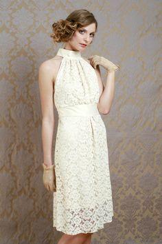 20s Fashion, Fashion Outfits, Bridal Dresses, Flower Girl Dresses, Short Lace Wedding Dress, Victoria Canada, Vintage Bridal, Couture, White Dress