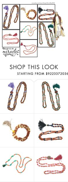 """MALA BEADS NECKLACE"" by lavanyas-trendzs ❤ liked on Polyvore"