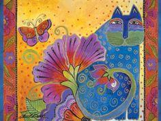 "laurel burch   Laurel Burch Card Birthday ""Blossoming Spirits"" - BDG13231"