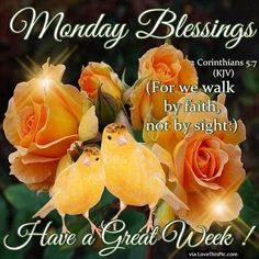 Monday Blessings Have A Great Week Religious Quote Monday Morning Quotes, Good Monday Morning, Monday Quotes, Weekend Quotes, Monday Blessings, Good Night Blessings, Morning Blessings, Have A Blessed Monday, Happy Monday