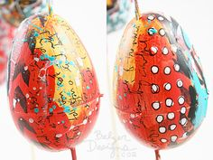 collage plastic easter eggs.