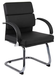 Boss Office Products Black Contemporary Task Chair at Lowe's. This lovely guest chair pairs perfectly with our mid and high back executive chairs and respectively) and is elegantly upholstered with Office Guest Chairs, Executive Office Chairs, Office Seating, Leather Design, Office Furniture, Furniture Ads, Urban Furniture, Furniture Movers, Small Furniture